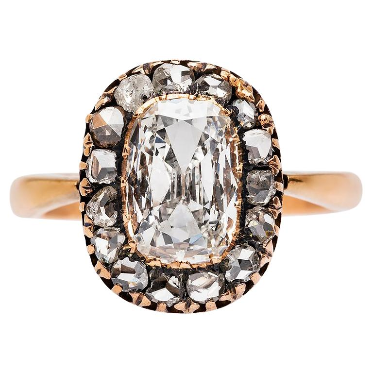 Early Victorian 1.26 Carat Centre Diamond Engagement Ring For Sale