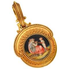 Antique Fontenay Masterpiece French Locket Pendant