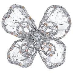 Flat Diamond Butterfly Ring