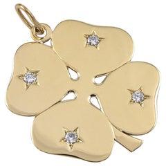 Gold and Diamond Cartier Clover