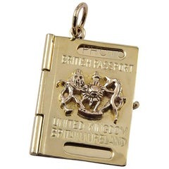 Brexit British Passport Gold Charm