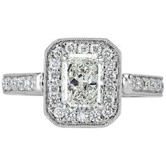 Mark Broumand 1.63 Carat Radiant Cut Diamond Wedding Set