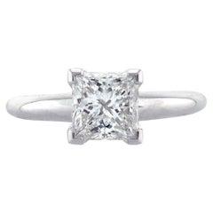 Mark Broumand 1.21 Carat Princess Cut Diamond Solitaire Engagement Ring