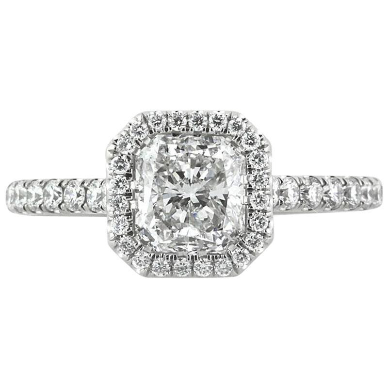 Mark Broumand 1.86 Carat Radiant Cut Diamond Engagement Ring