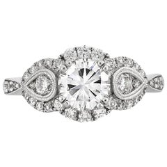 Mark Broumand 1.97 Carat Round Brilliant Cut Diamond Engagement Ring