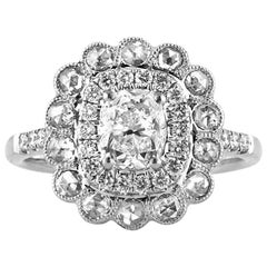 Mark Broumand 1.68 Carat Cushion Cut Diamond Engagement Ring