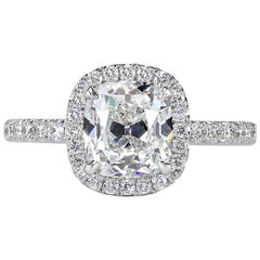 Mark Broumand 2.67 Carat Old Mine Cut Diamond Engagement Ring