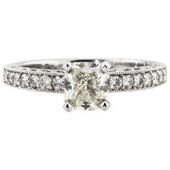 Mark Broumand 1.44 Carat Radiant Cut Diamond Engagement Ring