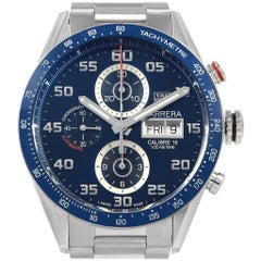 TAG Heuer Carrera Blue Dial Chronograph Steel Men's Watch CV2A1V