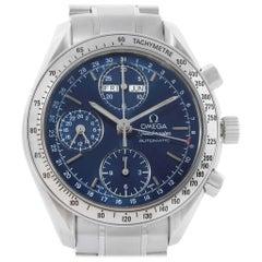 Omega Speedmaster Day Date Blue Dial Steel Men's Watch 3521.80.00