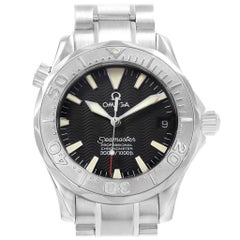 Omega Seamaster Midsize Steel White Gold Black Dial Watch 2236.50.00