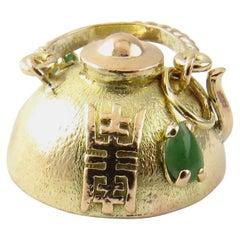 14 Karat Yellow Gold Teapot Charm