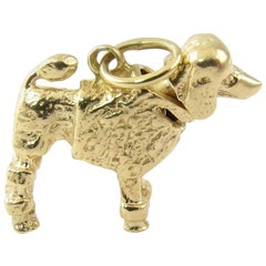 14 Karat Yellow Gold Bobble Head Poodle Charm