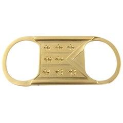 14 Karat Yellow Gold Cigar Cutter