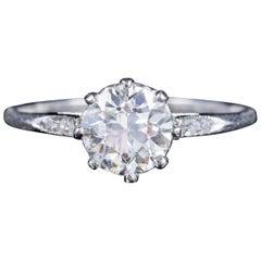Antique Edwardian Old Cut Diamond Engagement Ring 18 Carat Gold, circa 1910
