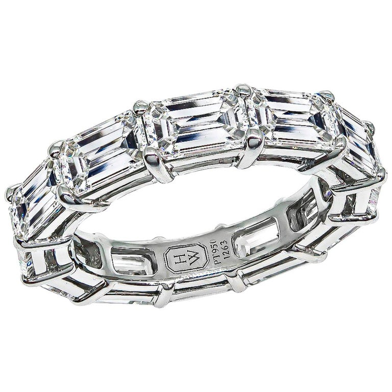 Harry Winston Diamond Platinum Eternity Wedding Band