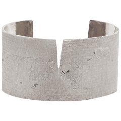 Split Cuff Bracelet in Silver by Allison Bryan