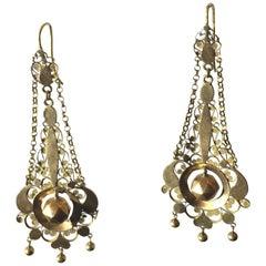 Gold Filigree Earrings 18 Karat