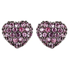 Chopard Pink Sapphire Heart Earrings 2.47 Carat