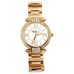 Chopard 18 Karat Rose Gold and Diamond Imperiale Watch