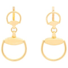 14 Karat Yellow Gold Equestrian Earrings