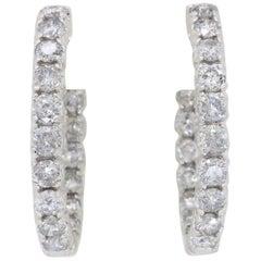 Inside Out 2.75 Carat Diamond Hoop Earrings