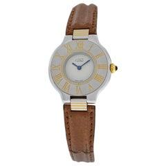 Ladies Cartier Must de Cartier 21 Quartz Steel Gold Watch