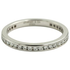 Tiffany & Co. Platinum Diamond Full Circle Eternity Wedding Band