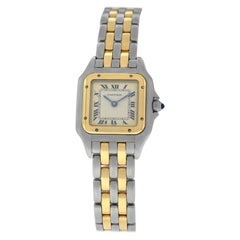 Cartier Panthere 166921 Steel 18 Karat Yellow Gold Two-Row Quartz Watch