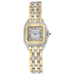 Cartier Panthere Steel 18 Karat Yellow Gold Three-Row Quartz Watch