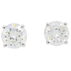 Classic 1.90 Carat Diamond Stud Earrings