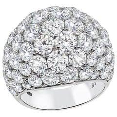 Large 10.48 Carat Diamond Platinum Ring