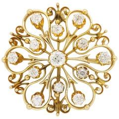 Estate Diamond Brooch