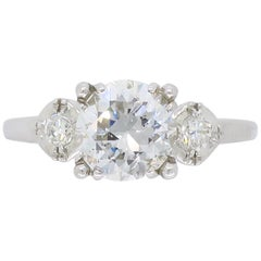 Vintage Diamond Three-Stone Diamond Ring