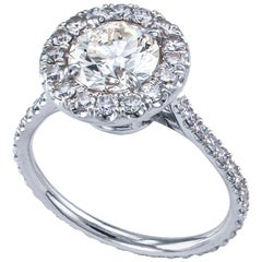 1.22 Carat Diamond Solitaire White Gold Engagement Ring