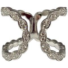 18 Karat White Gold 0.58 Carat Hearts on Fire Lorelei Floral Diamond Ring
