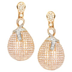 18 Karat Pink Diamond Earrings