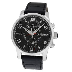 Men's Montblanc Twinfly 105077 Steel Flyback Chrono Watch