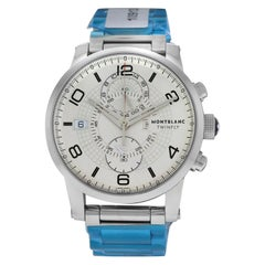 Men's Montblanc Twinfly 109133 Steel Flyback Chrono Watch