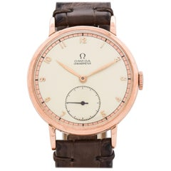 Vintage Omega Chronometer 14 Karat Rose Gold Watch, 1942
