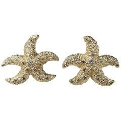 "14 Karat Diamond ""Starfish"" Earrings"