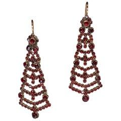 Victorian Garnet Chandelier Earrings