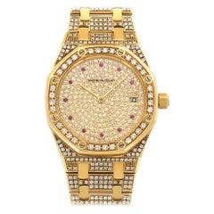 Audemars Piguet Yellow Gold Royal Oak Diamond Watch