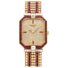 Patek Philippe Yellow Gold Ruby and Diamond Watch Ref. 3994