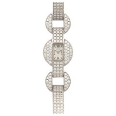 Cartier White Gold Himalia Diamond Bracelet Watch
