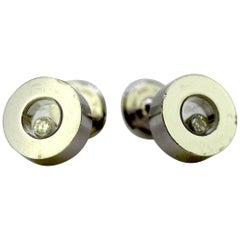 Chopard, 18 Karat Gold Happy Diamonds Earrings, France, 1990s