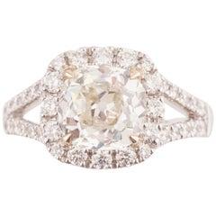 Certified 2.61 Carat Diamond Engagement Ring