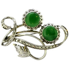 71d73bcfd42cc Antique Jade Brooches - 80 For Sale at 1stdibs