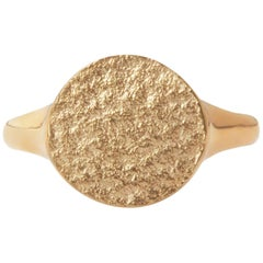 Textured Signet Ring in 9 Karat Gold by Allison Bryan