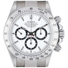 Rolex Daytona Stainless Steel Zenith Movement White Dial Automatic Watch